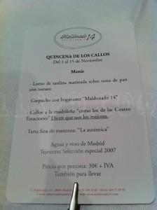 MALDONADO 14. Carta