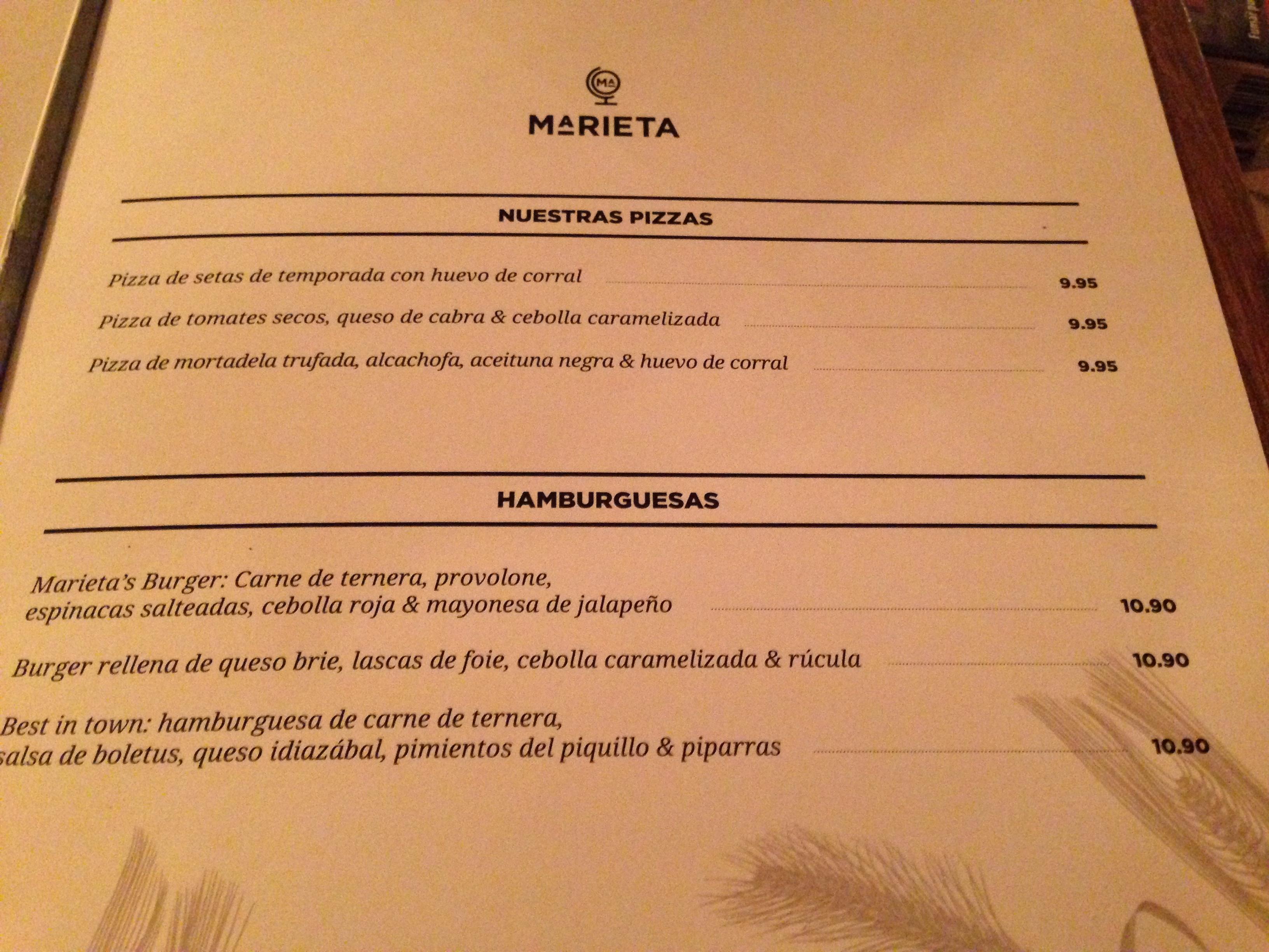 Marieta dime un restaurante - Marieta restaurante madrid ...